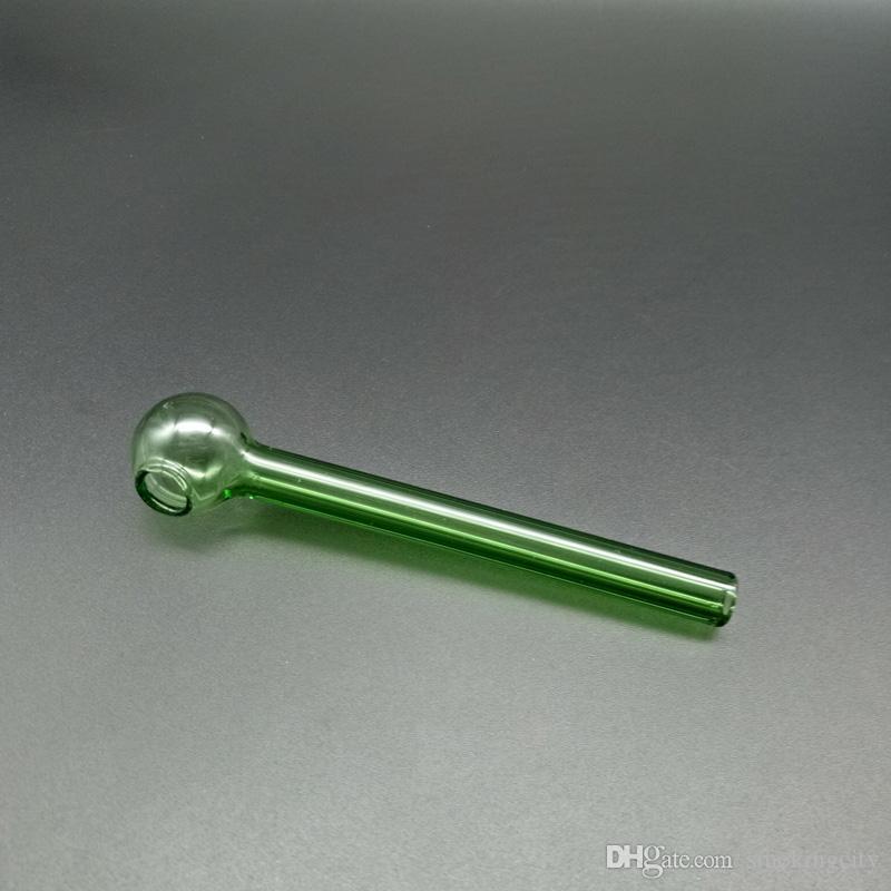 Großhandel 4-Zoll-Glas-Öl-Brenner-Rohr billig Rauch-Wasser-Rohr Bubbler-Glas-Rohr-Öl-Burnierrohr Freies Verschiffen an AU / US