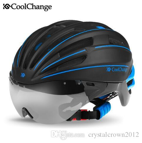 2019 Mountain Bike Riding Helmet Bicycle Goggles Glasses Male And