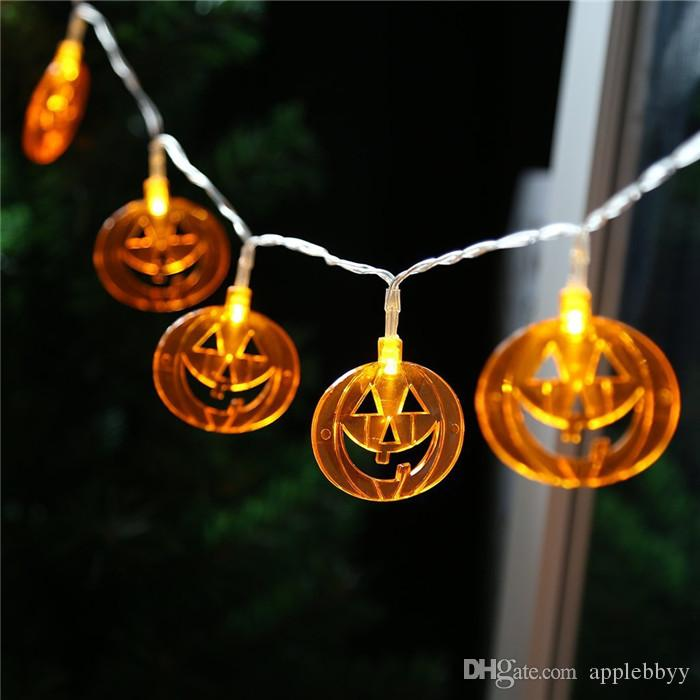 halloween decorations pumpkin lights ghosts spiders skeletons bats led lights strings 10 lights 20 lights fiber optic whip rave toy toy led lights