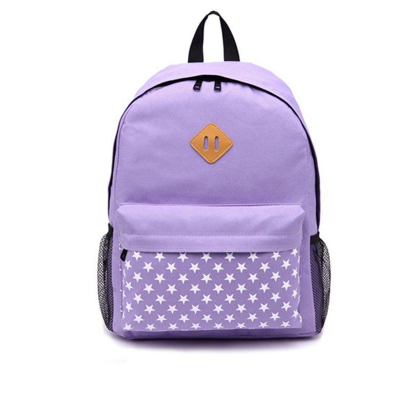 573fe42582ce Purple Girls Backpack Adorable Women Bag Floral Print Pattern Fashion Bag  Waterproof Leisure Oxford Travel Bag Rucksack Jansport Backpacks From ...