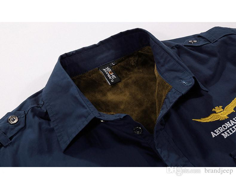 8% OFF 2016 Winter Men Shirt Long Sleeve Camisa Masculina Fleece Liner Casual Mens Dress Shirts Slim Fit Thermal 135 60hfx