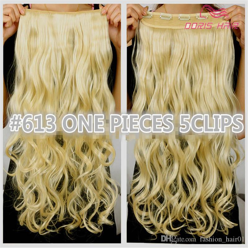 1pcs clip in hair extension women hair 30colors one piece 2pack for full head long wavy hair extension free shipping
