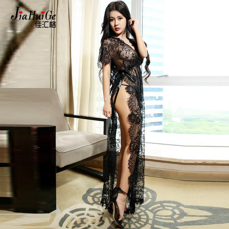 JiaHuiGe 섹시한 란제리 뜨거운 여자 란제리 레이스 투명 Babydoll 여자 에로 섹시한 란제리 섹시한 섹시 의상 Nighty Sleepwear
