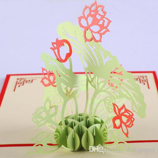 Lotus pop up card3d card handmade flower greeting cards thanks you lotus pop up card3d card handmade flower greeting cards thanks you card wedding invitation 3d card sister birthday cards special birthday cards from thecheapjerseys Images