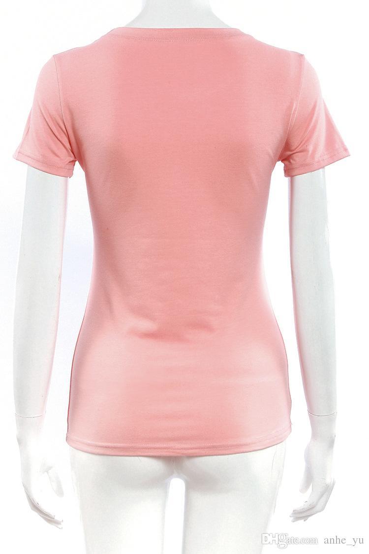 Lettres de mode d'été imprimées T-shirts de taille mince T-shirts de loisirs pour des femmes de fille