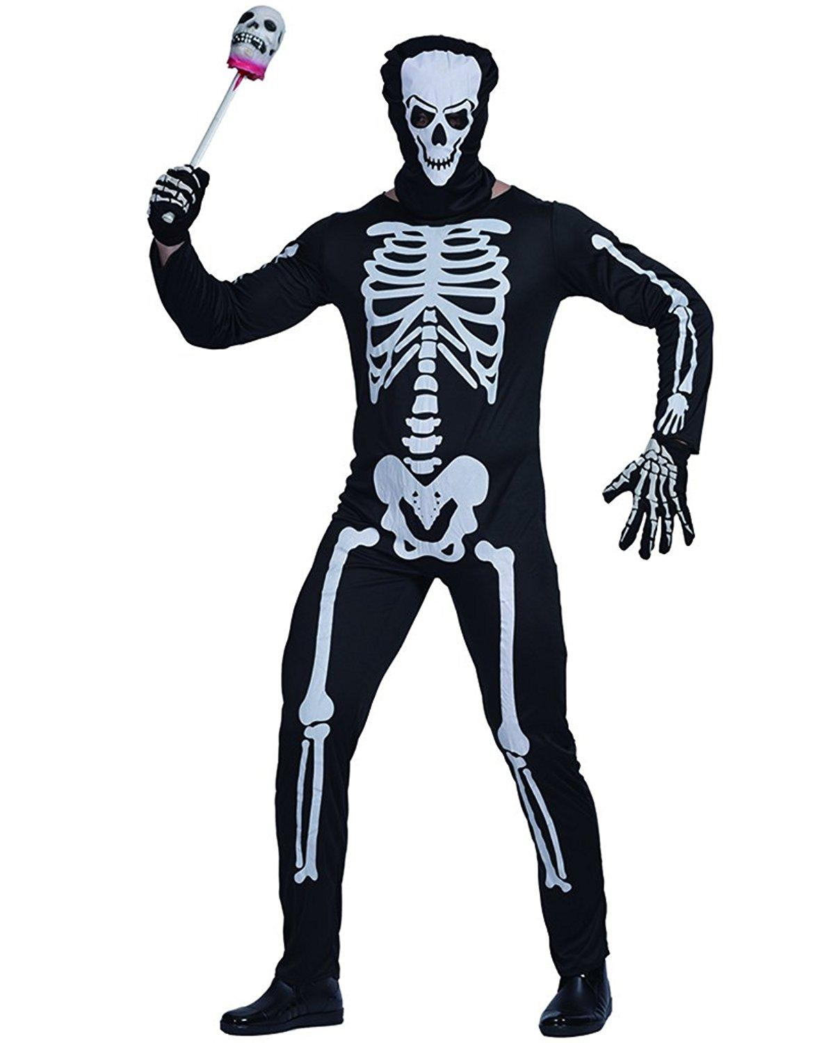 eraspooky mens skeleton jumpsuit bone skin suit halloween costume themes for halloween costumes kids group halloween costumes from fantastcostumes - Skeleton Halloween Costume For Kids