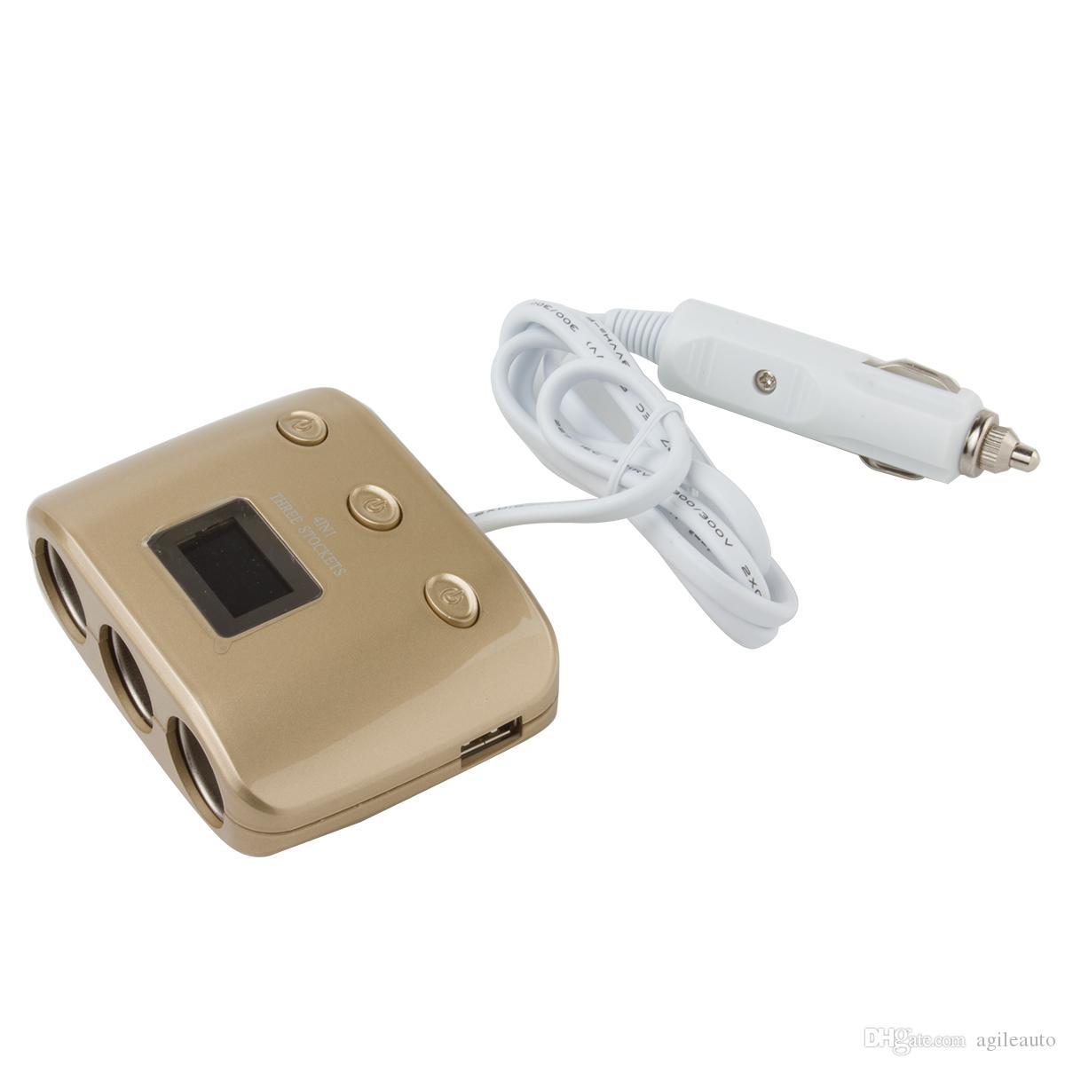 3 Yollu 2 USB Güç Dönüştürücü Araç Adaptörü Çakmak Soket Splitter CEC_62D