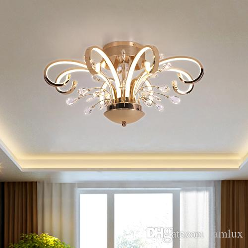 Lights & Lighting Ceiling Lights & Fans Hearty Creative Led Crystal Ceiling Lamp For Corridor Living Room Bedroom Crystal Downlight Led Spotlight Modern Style Lighting Fixture