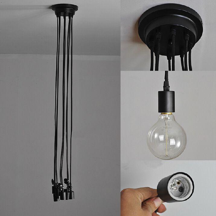 Edison Chandelier Morden Creative Edison Light Bulbs Pendant Light Loft Office Light Antique Edison Bar Living Room Light Fixture