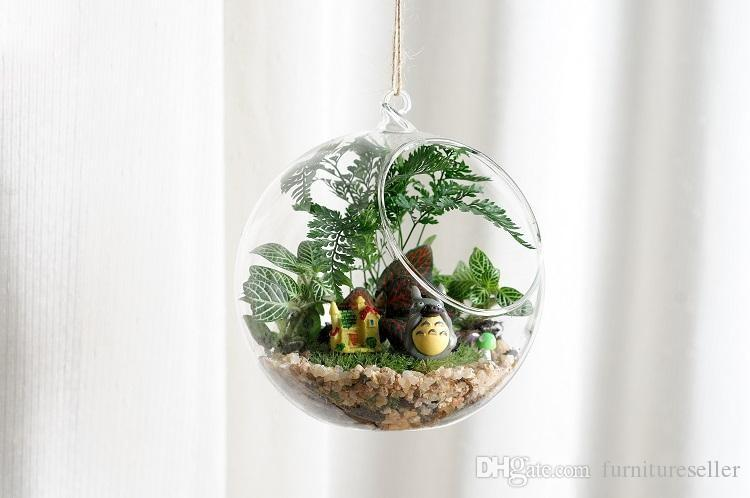 Clear Glass Ball Hanging Air Plant Terrarium Wedding Candlestick Tealight titolari per la cerimonia nuziale Home Decor 8 cm 10 cm 12 cm 15 cm
