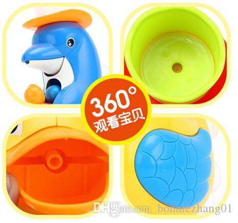 Animal de canard jaune de dauphin drôle bébé jouet de bain mignon doux coloré l'eau de bain studing jeu jouets