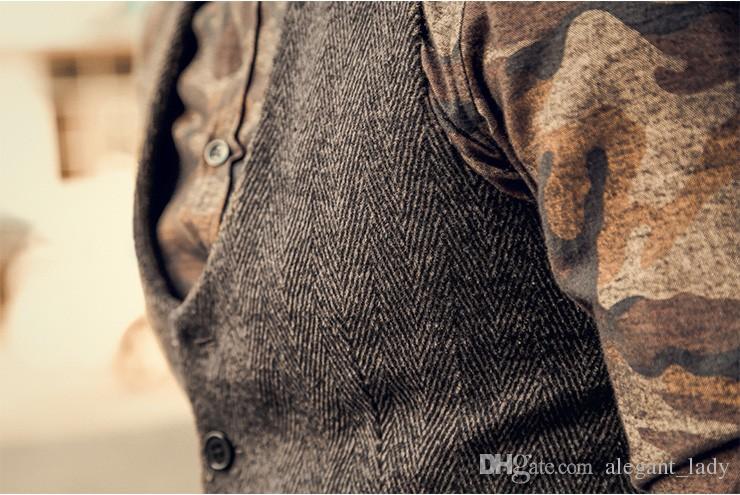 2019 جديد وصول اللباس سترات للرجال يتأهل رجل دعوى سترة الذكور صدرية جيليه أوم عارضة أكمام سترة العمل الرسمية