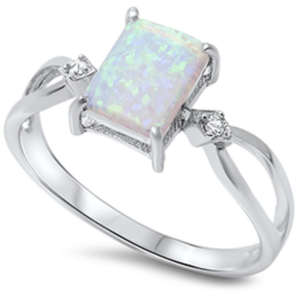2019 Size 4 12 925 Sterling Silver Princess Cut Australian Fire Opal