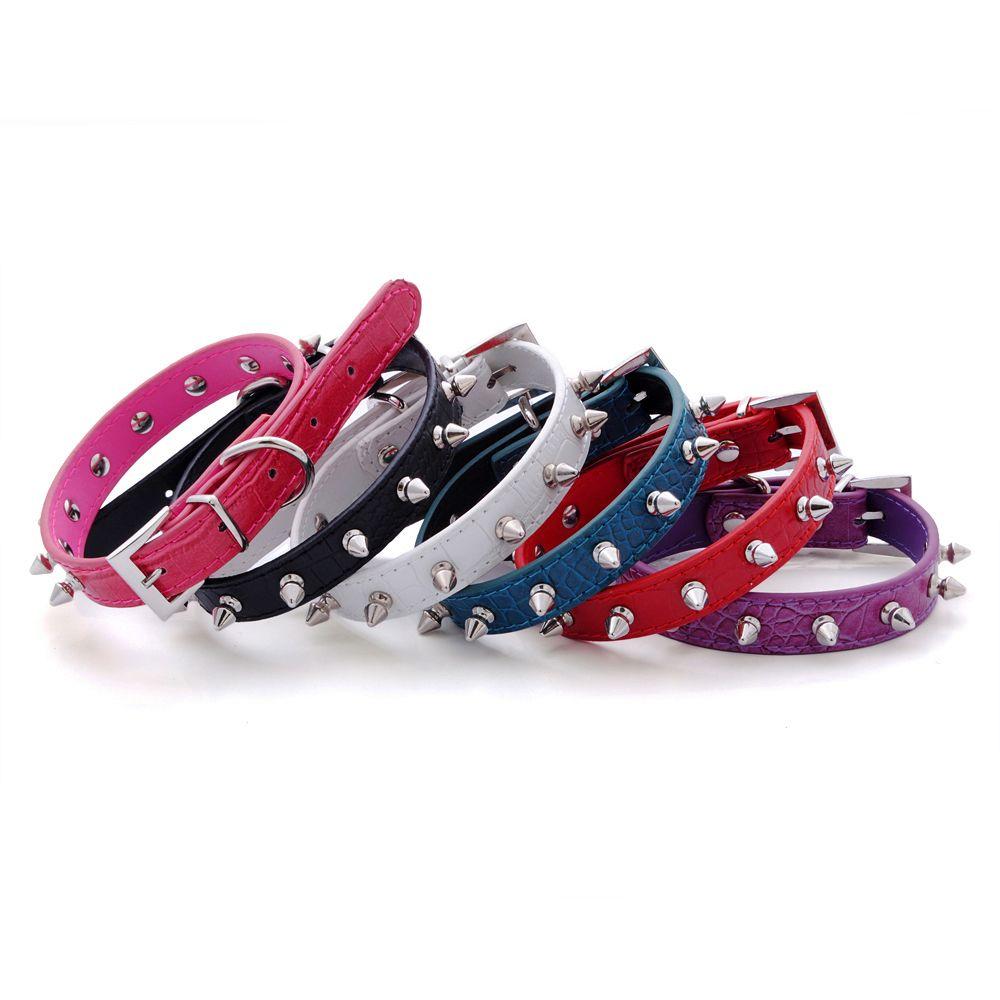 애완 동물 개 목걸이 최고급 개 목걸이 화이트 스파이크 애완 동물 개 목걸이 1 개 라인 4 색 무료 배송