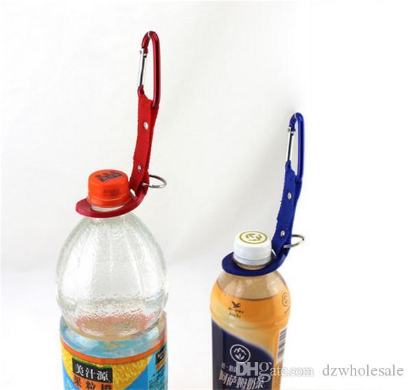 Outdoors Sports Water Bottle Buckle Hook Holder Clip Bottle Hanger Aluminum Carabiner travel Survival Tool For Camping