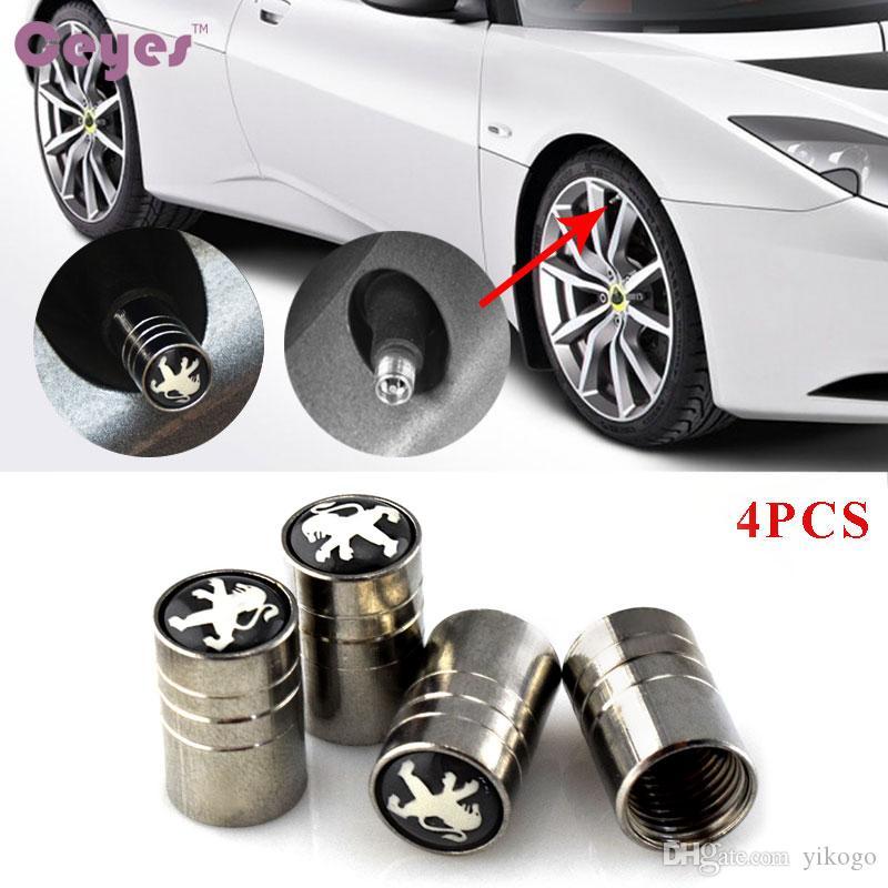 سيارة عجلة الاطارات صمامات الاطارات الجذعية الهواء قبعات غطاء لبيجو صالح لجميع السيارات سيارة التصميم 4 قطعة / الوحدة