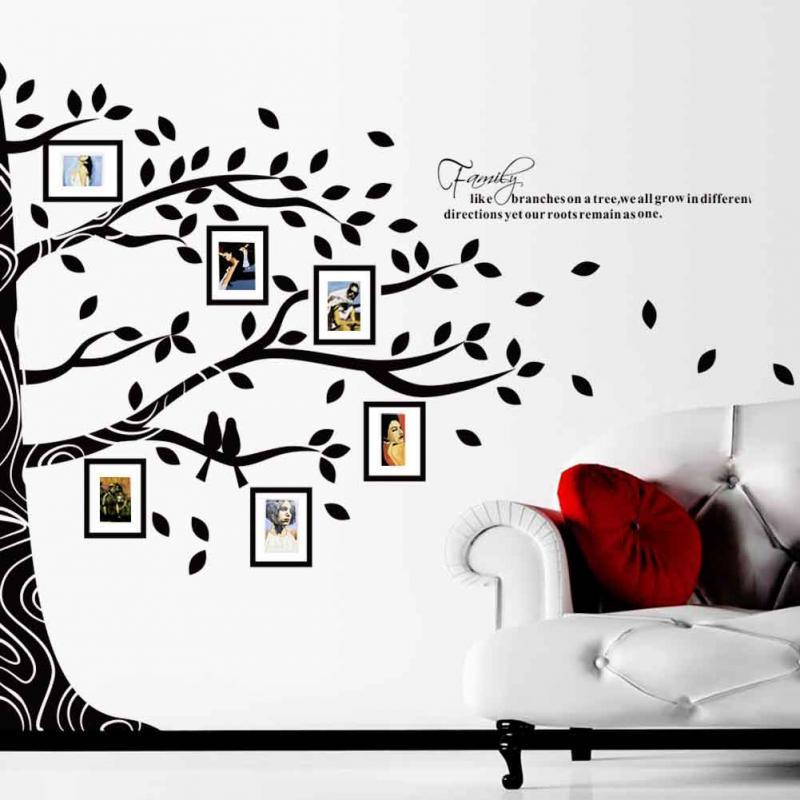 New Plastic Diy D Creative Pattern Pictures Tree Photo Wall - Custom vinyl wall decals how to remove