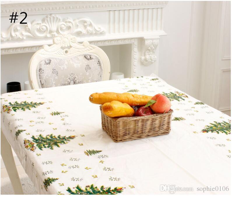عيد الميلاد مفرش المائدة المتاح عيد الميلاد PVC Tablewear مرح عيد الميلاد مستطيلة مطبوعة الكرتون مفارش المائدة يتوهم صحن الجدول القماش