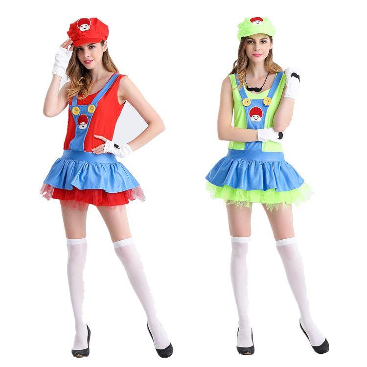 Halloween Anime Cosplay Super Mario Games Take Adult Mario Costume Suspenders Skirt Stage Costumes Animal Halloween Costumes Unique Costumes From Timiplay ...  sc 1 st  DHgate.com & Halloween Anime Cosplay Super Mario Games Take Adult Mario Costume ...