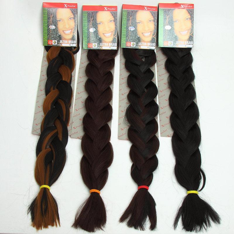 Best Quality X Pression Braiding Hair Ultra Braid Synthetic Bulk