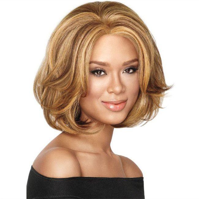 WoodFestival harajuku Боб вьющиеся парик синтетические дамы омбре светлые волосы парики женщин термостойкие волокна короткий парик перука Лолита