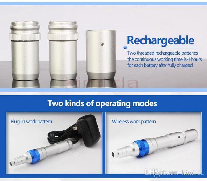 영구 메이크업에 대해 새 무선 더마 펜 울티마 A6 미세 Dermapen Dermastamp 메조 12 바늘 Dr.pen 문신 펜