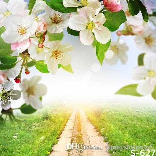 Spring flowers garden path 5x7ft vinyl photography backdrops photo spring flowers garden path 5x7ft vinyl photography backdrops photo studio photographic background children wedding silver wedding decorations simple wedding mightylinksfo