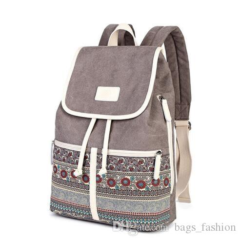 192233fa2599 Canvasartisan Top Quality Canvas Women Backpack Casual College Bookbag  Female Retro Stylish Daily Travel Laptop Backpacks Bag Satchel Bags Gym Bags  For ...