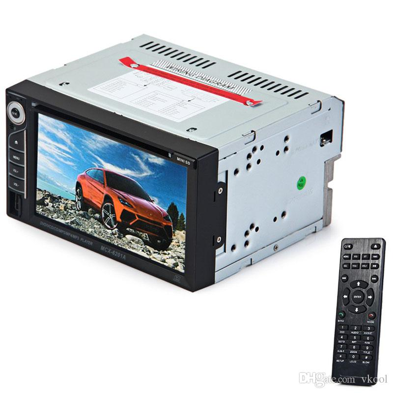 New 6.2 Inch 6201A Double Din Car DVD Player DIVX/DVD /VCD/CD/USB/Bluetooth Auto Multimedia Player 2 Din MP5 Audio Player Remote Controller