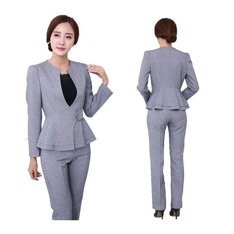 2017 Wholesale Women Business Suits 2016 Grey Uniform Designs ...