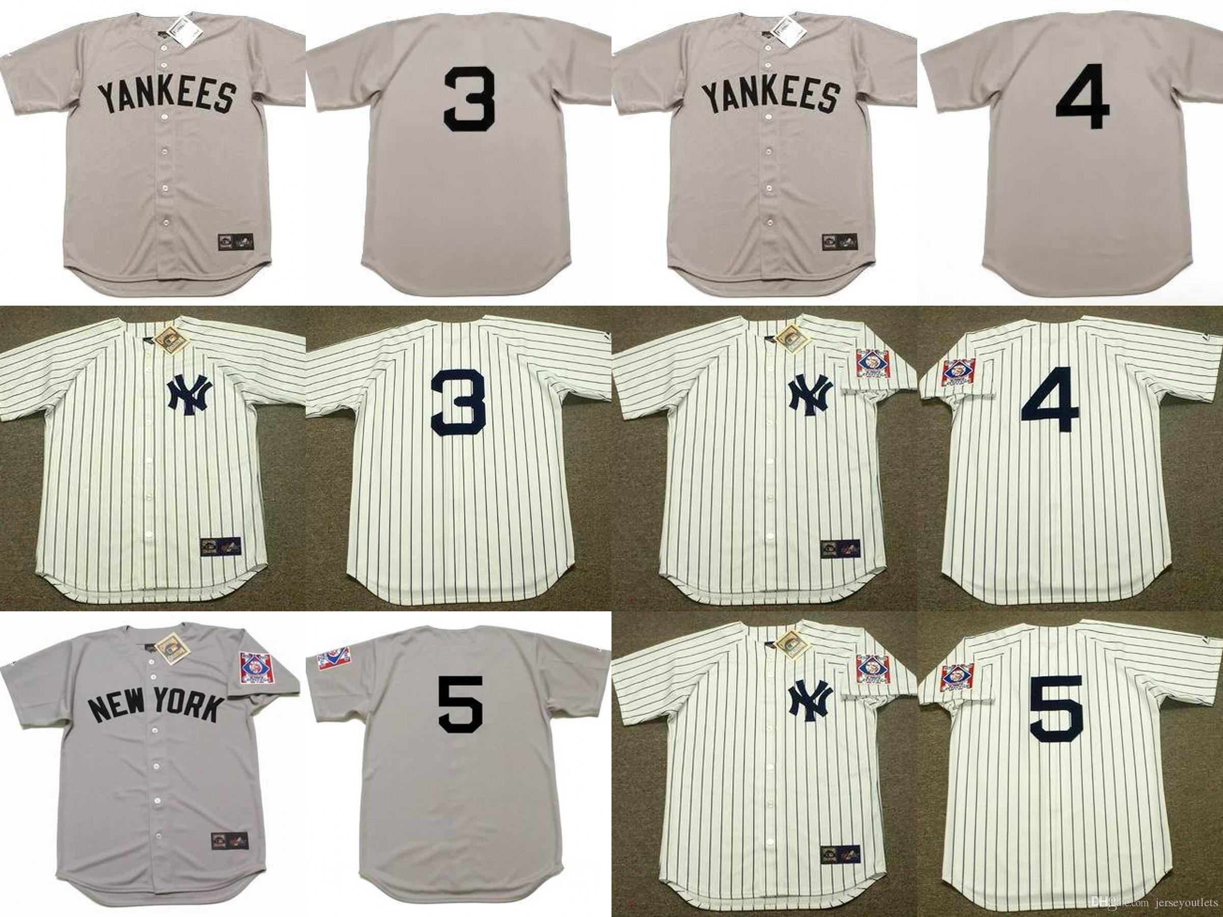 reputable site 09671 9537d new york yankees 3 babe ruth gray wool throwback jersey