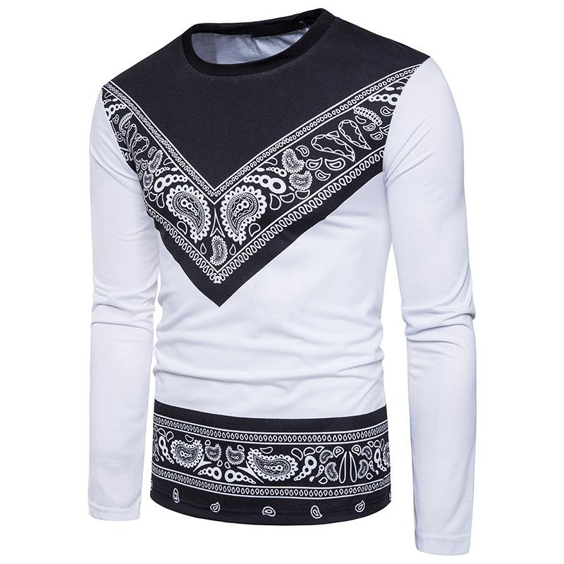 Acquista Hip Hop Bandana T Shirt Uomo Paisley Stampa Magliette A Maniche  Lunghe Marca Tees Shirt Cotone Di Alta Qualità Abbigliamento All ingrosso  2017 ... 0015a05b7844