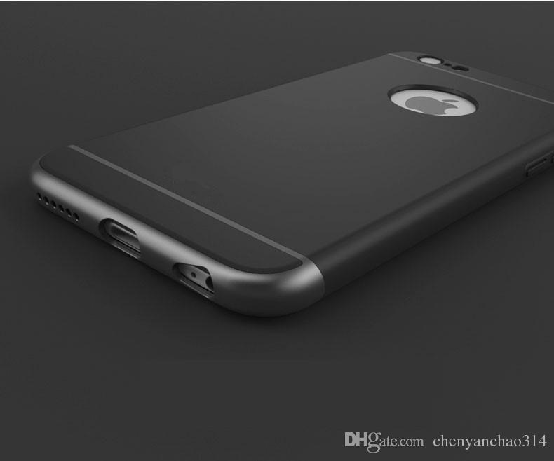 Ultra Mince 3 En 1 Antichoc Couverture Dorsale Rose Couleur Or Luxe Armure Givrée De Luxe Pour Iphone 6 6 Plus