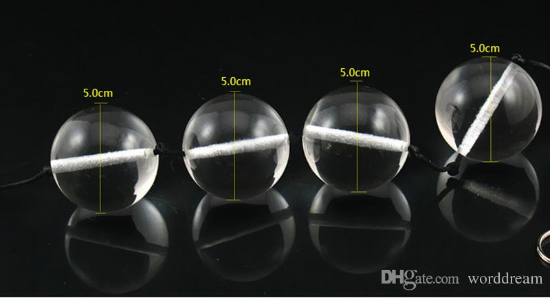 Dia 50 MM Big Glass Anal Beads Butt Plug Stimulator In Adult Games , Fetish Anus Pleasure Sex Toys For Women And Men Gay