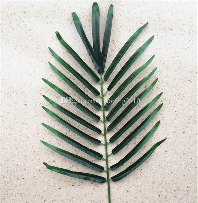 フローラルアレンジメントのための12ピース52cm人工シルク植物シミュレーション散在緑の葉ヤシの木の葉