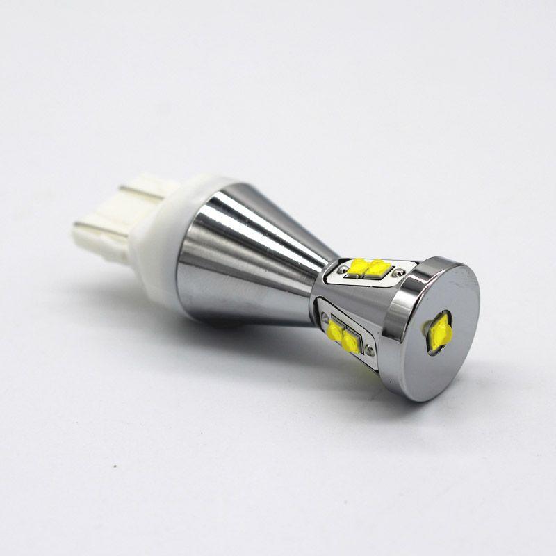Neues 12 ~ 24V 45w T20-7740 / 7743 führte Auto-Lichtbirnen für das Seitenbremslicht, das parkendes signallight Weiß dreht
