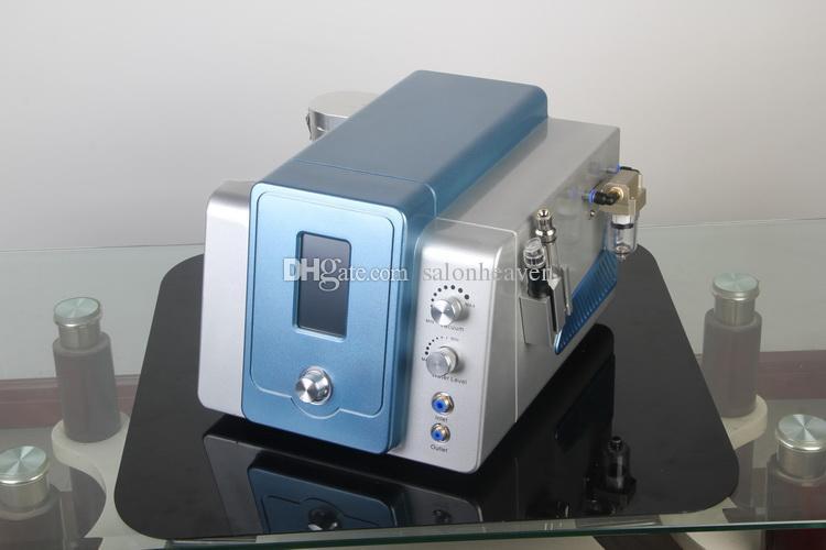 터치 스크린 2 in 1 Diamond Microdermabrasion Hydra Dermabrasion Hydro Face Water Oxygen Jet 껍질 페이셜 머신 4 개 청소 병