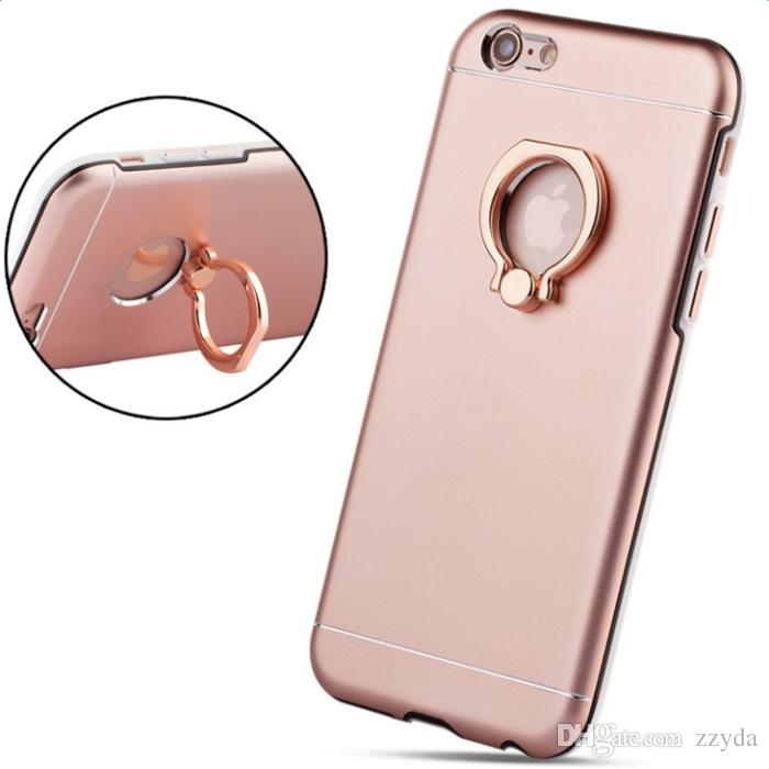 quality design fd97e 7337e Kickstand Back Cover Phone Cases Metal Back Finger Holder TPU Phone Cases  With Kickstand For IPhone 6S 6 6plus
