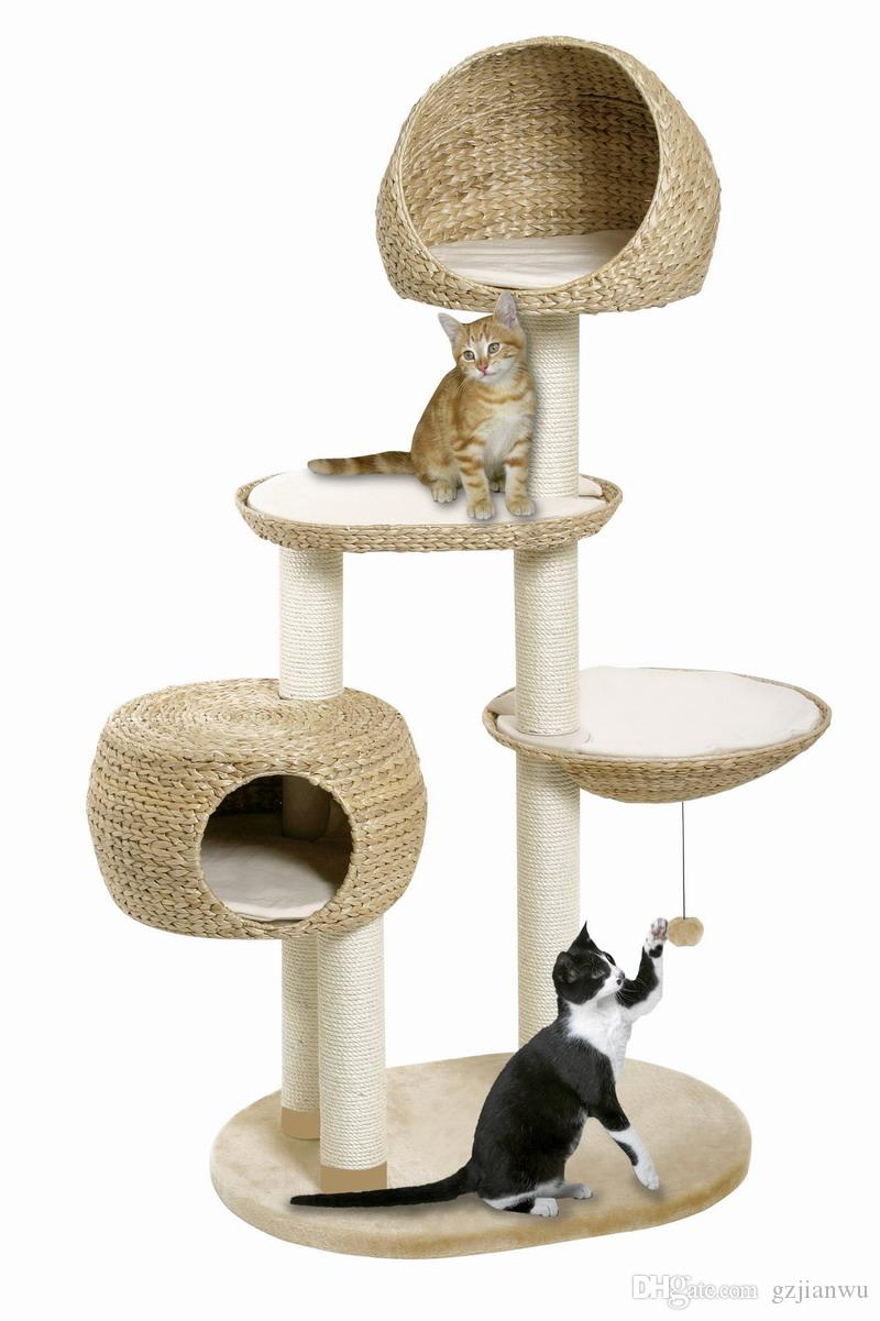 natural banana leaf cat scratching tree cat toy pet product cat house