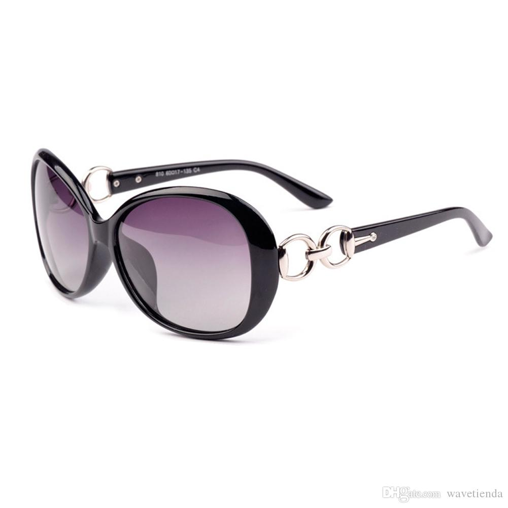 Sunglasses European And American Fashion Ladies Oval Purple Lens ...