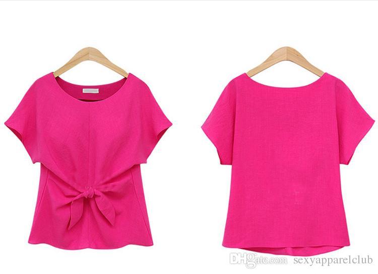패션 여성 여름 의류 섹시한 블라우스 O-넥 반소매 셔츠 활 쉬폰 캐주얼 빈티지 탑 플러스 사이즈 Blusas 블라우스