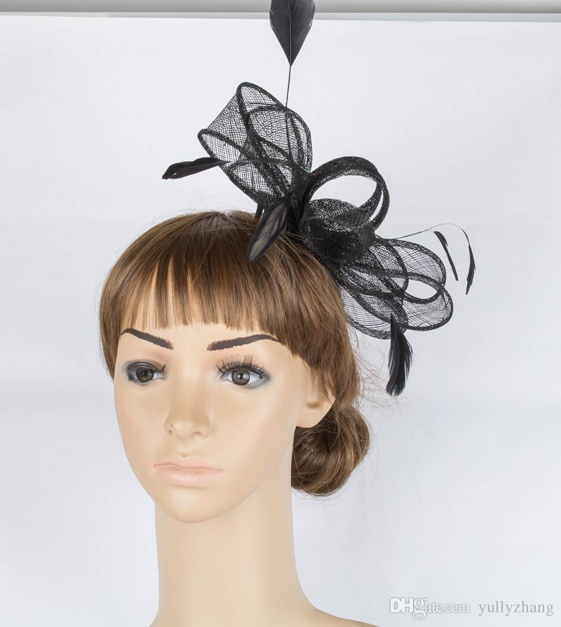 livraison gratuite avaliable chapeaux sinamay, coiffure femmes de soirée de mariage fascinateur belle accessoires pour cheveux fascinateur, / MYQ027