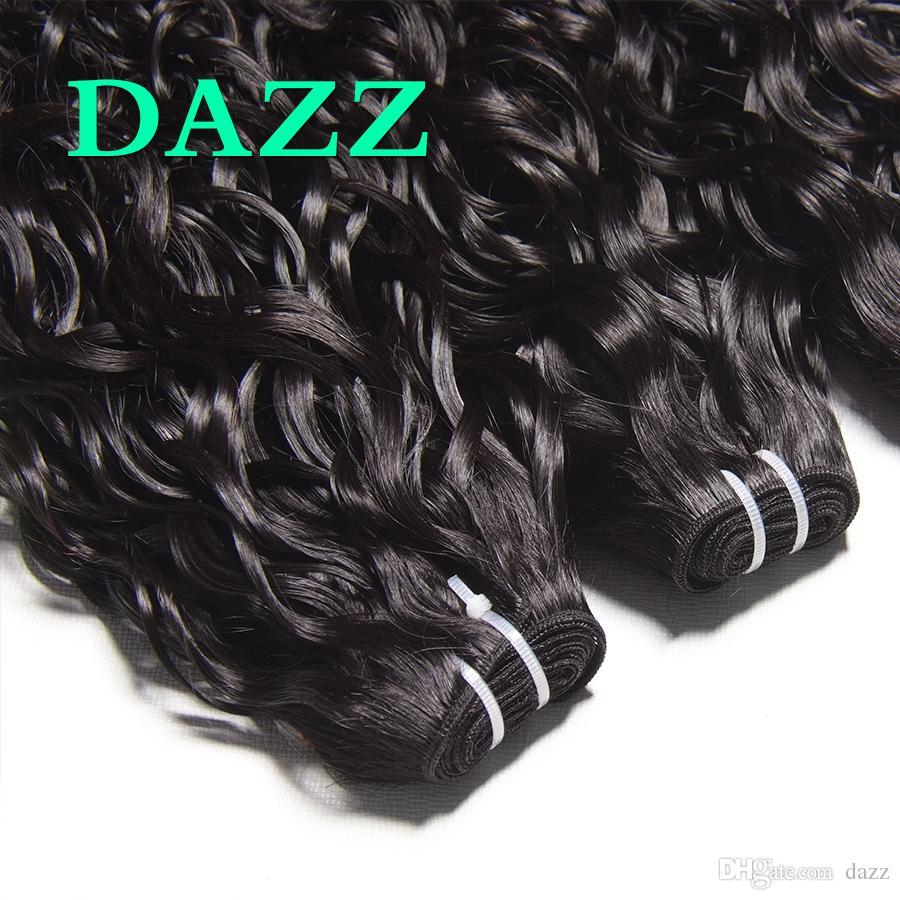 DAZZ Nerz Brasilianisches Reines Haar Wasserwelle Haar 4 Bundles Angebote Weben Bundles Wasserwelle Bundles Remy Nasses Und Wellenförmiges Menschliches Haar Extensions
