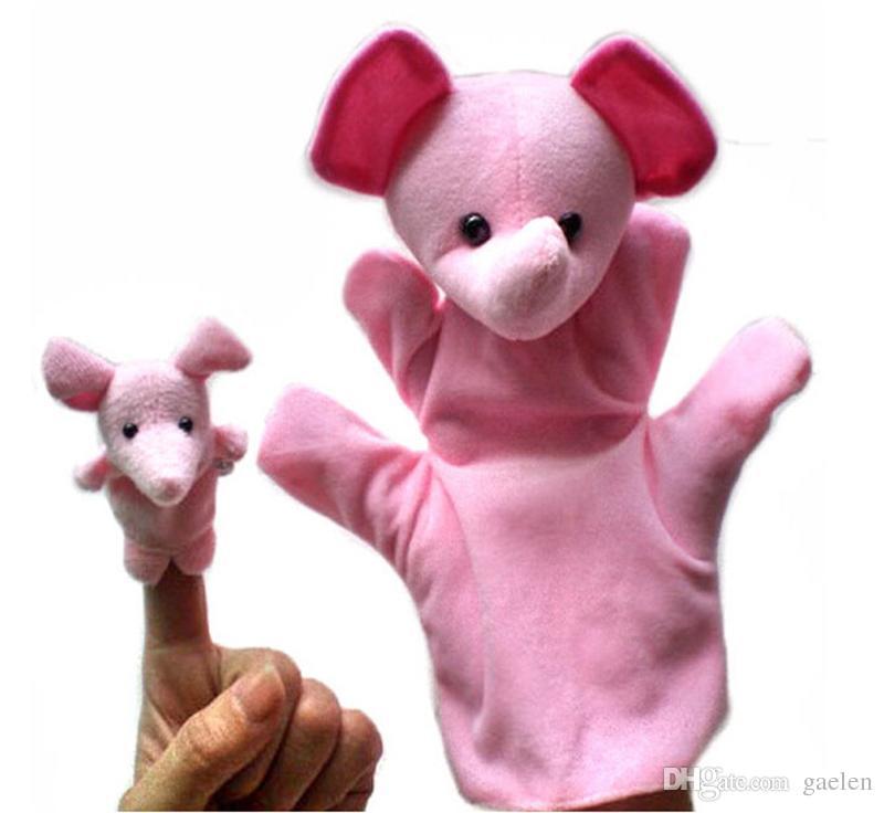 الحيوان الدمية الطفل أفخم لعبة فنجر الدمى يتحدث الدعائم 10 مجموعة الحيوانات الأطفال التعليمية لعب يد دمية