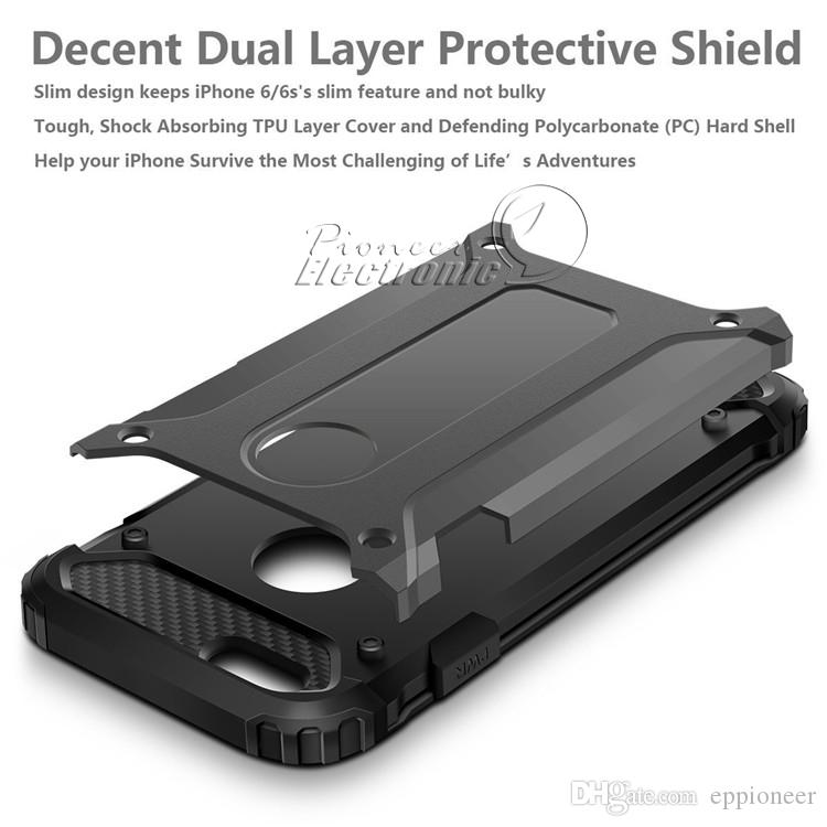 For NEW Iphone XR XS MAX X 8 Samsung Galaxy S9 plus Case cover Armor Hybrid Superior Hard PC And Pliable Rubber Drop Resistance Defend Case