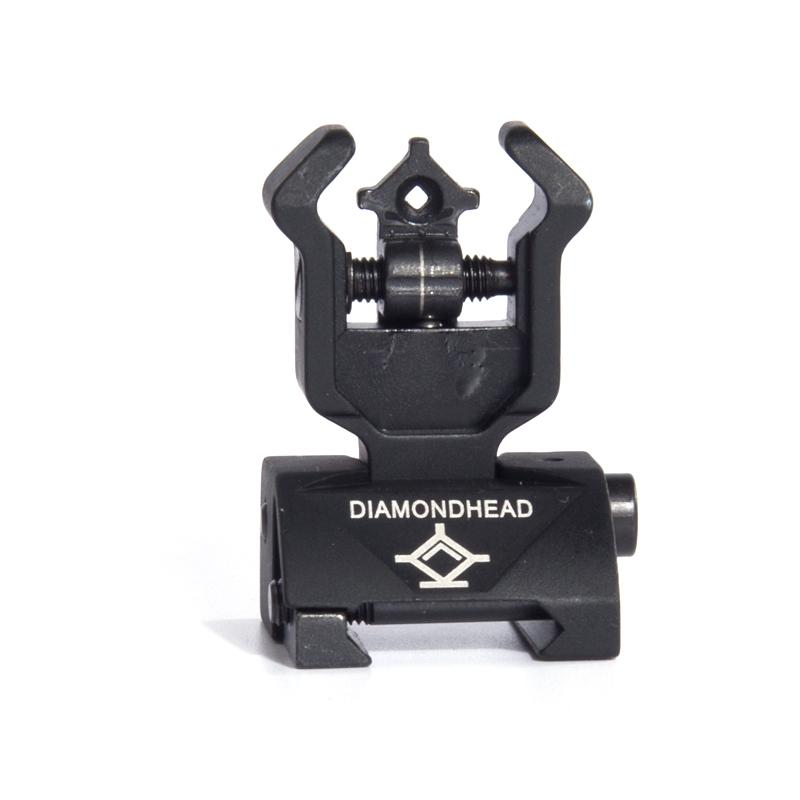 Diamondhead DIAMOND Iron Sight Flip-Up Rear Front Sight Folding Iron Sights for Drop-In Free-Floating Handguards Picatinny Rail