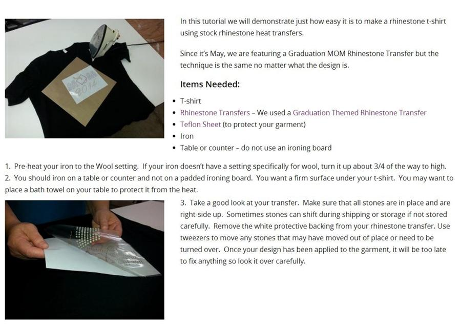 Rhinestone Crystal Iron On T Shirt Design Transfer - Bee Wasp DIY DH0031