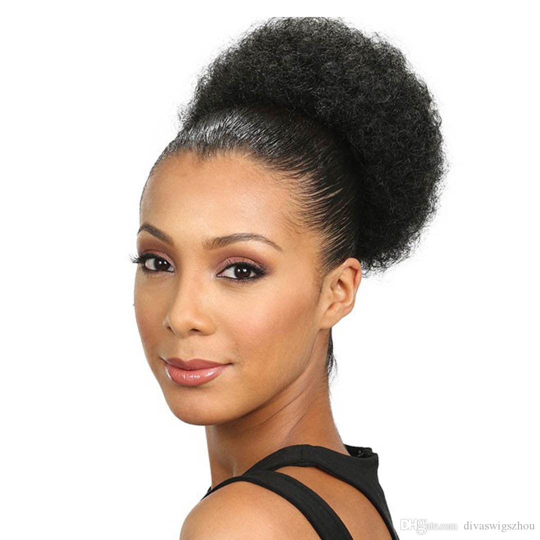 Hot selling real natural kinky puff afro ponytail hair extension hot selling real natural kinky puff afro ponytail hair extension clip in remy afro kinky curly drawstring ponytails hair piece 120g human hair ponytail pmusecretfo Image collections