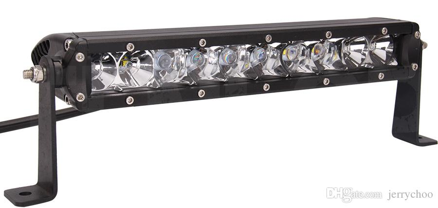 """Hot Sale 11"""" Inch 10*5W 50W Single Row DRL LED Lightbar For SUV Offroad ATV 4*4 Boat"""