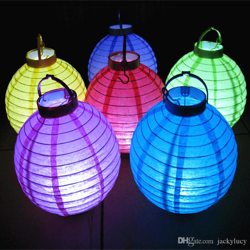 12 Inch Fashion LED Paper Lantern Hanging Colorful Ball Craft Ornament For Holiday Wedding Party Decoration Supplies